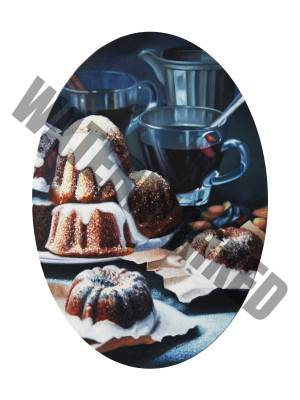 Still Life With Maple Sirup Cakes - 70cm x 60cm - Oil On Canvas - 2015