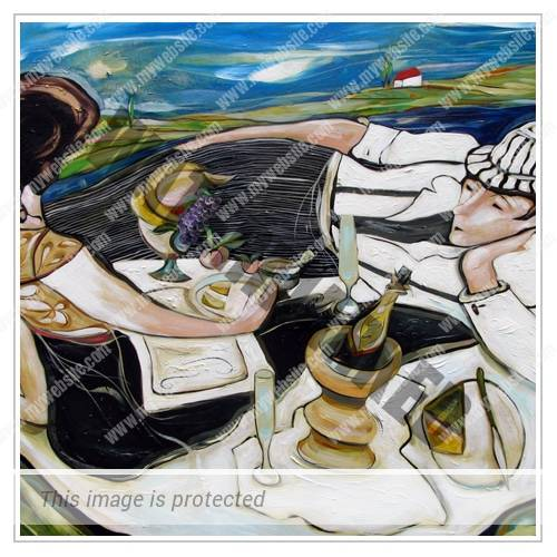 Thumbnail - Under The Tuscan Breeza - Acrylic On Canvas - 117cm x 169cm - 2008